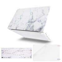 Mosiso MacBook Pro 13 Case 2017 & 2016 Release A1706 / A1708, Plastic Pattern Hard Case Shell with Keyboard Cover with Screen Protector for Newest MacBook Pro 13 Inch, White Marble