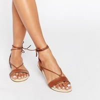 ASOS FLAWLESS Tie Leg Sandals at asos.com