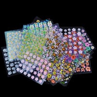 30 Sheet/Lot Floral Design Manicure Transfer Nail Art Tips Stickers Decals 3D Flowers Beauty Tickers For Nails JH177