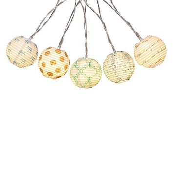 10-Light Paper Ball LED String Light Set