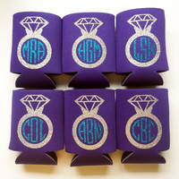 Diamond Ring Monogram Coozies