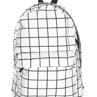Modern Geo Monochrome Backpack in Black and White