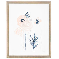 Sketched Watercolor Floral Wood Wall Decor | Hobby Lobby | 1663939