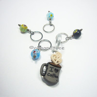 Stay Awake to Knit, knitting stitch marker tool, coffee, caffine, snagless id1370728 stitchmarker ift idea snag free yarn pattern aide