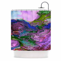 "Ebi Emporium ""Bring On Bohemia 2, Lavender "" Blue Purple Shower Curtain"