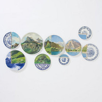 Twin Peaks Plate Collage