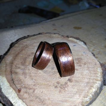 Classic Wenge His and Hers bentwood ring set