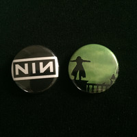 "NINE INCH NAILS 1"" buttons"