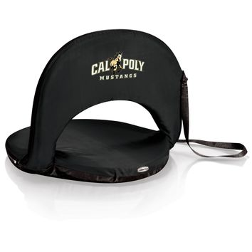 Cal Poly Mustangs 'Oniva' Portable Reclining Seat-Black Digital Print
