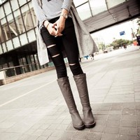 Patent Leather Winter Boots