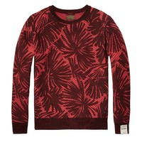 Floral Fire Slim Fit Sweater by Scotch & Soda