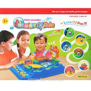 Water paradise Adventure of Bebe  Beckham Adventures  Montessori desktop Pass through the task board games Educational toys