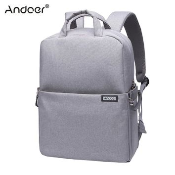 Andoer Water-resistant Shockproof DSLR Camera Bag Photography Video Backpack Shoulder Bag for Nikon Canon Sony Pentax Sony Cam