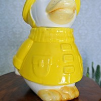 Vintage 1970s Duck + Ceramic Cookie Jar