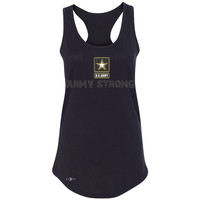 Zexpa Apparel™ Army Strong US Army Unisex - Women's Racerback Military Star Cool Sleeveless