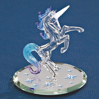 Small Starlight Unicorn Glass Figurine w/ Swarovski Elements