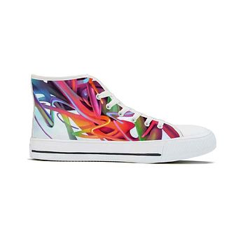 Gravity Wave by Brian Scott - High Top Canvas Shoes