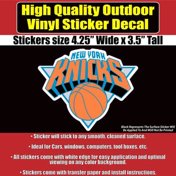 New York Knicks Basketball NBA Vinyl Car Window Laptop Bumper Sticker Decal
