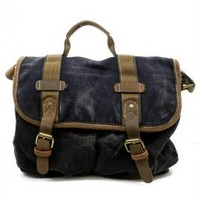 Road Trip Buckled Canvas Messenger Bag in Black | Sincerely Sweet Boutique