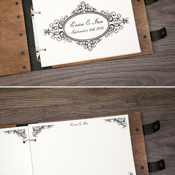 Wedding Guest Book. Guest Book. Wedding date and names. Custom Guest Book