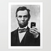 Abraham Lincoln iPhone art print poster Art Print by Cool Posters