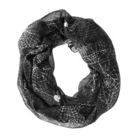 Halloween Spider Web Infinity Scarf