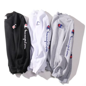 Champion Fashion Casual Long Sleeve Sport Top Sweater Pullover Sweatshirt