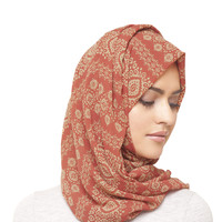SUNSET ETHNIC PRINT HIJAB - $16.26 : Inayah, Islamic clothing & fashion, abayas, jilbabs, hijabs, jalabiyas & hijab pins