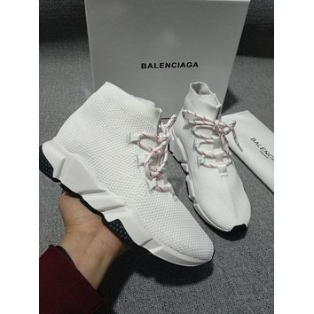 BALENCIAGA White fashionable socks shoes