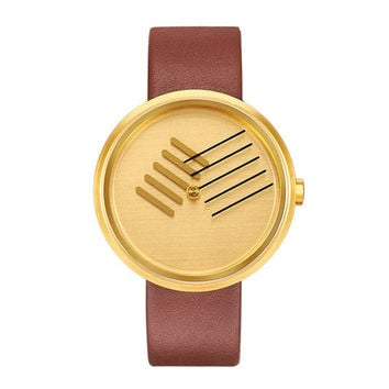 "Gold Tone ""On The Right Track"" Timepiece"