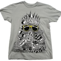 Chains Guys T-shirt in Light Grey by Beautiful Decay Clothing - Ships in ''24'' Hours!