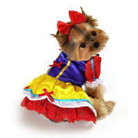 Enchanted Snow Princess Dog Costume - Large