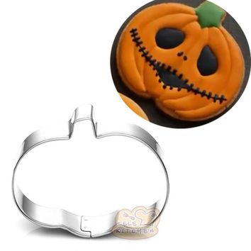 Halloween Pumpkin Metal cookie cutter shapes high quality stampi biscotti neonato Sushi mold cupcake toppers BG051 6*4.7cm