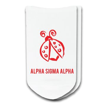 Alpha Sigma Alpha - Sorority Icon No-Show Socks
