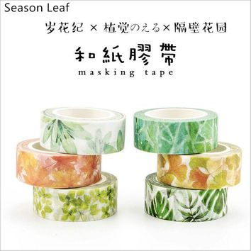 22 Styles Seasons Color Flower Plants Swatch Washi Tape Adhesive Tape DIY Planner Scrapbooking Sticker Label Masking Tape