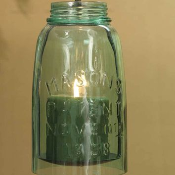 Set of 2 Hanging Mason Jar Pillar Holder - Half Gallon