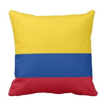 Colombia Flag American MoJo Pillow