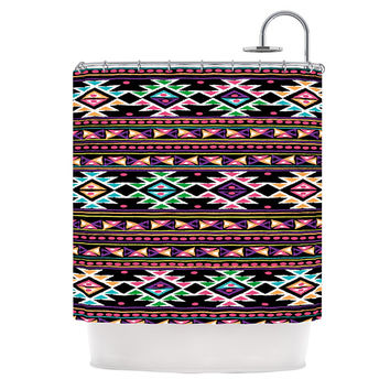 "Nika Martinez ""Black Aylen"" Shower Curtain"