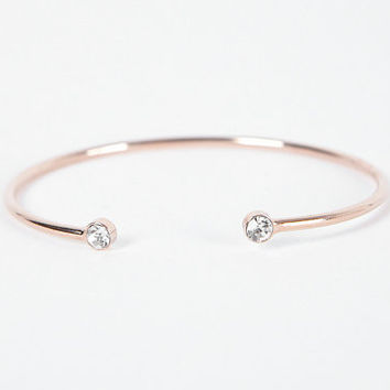 Rose Gold Bracelet, Rose Gold Bangle, Rose Gold Bangle bracelet, open bangle/rose gold/ rose gold cuff/wedding/ bridesmaid / gift/ Korea