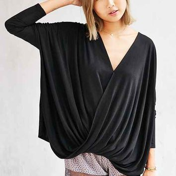 Silence + Noise Olivia Surplice Top