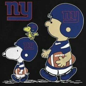 (3) NY New York Giants Snoopy Charlie Brown Vinyl Stickers 3x2.8 Car Decals