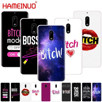 HAMEINUO Bitch mode on pink boos cover phone case for Nokia 9 8 7 6 5 3 Lumia 630 640 640XL 2018