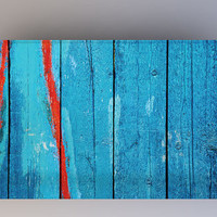 Blue & Red Wood - Photography Backdrop