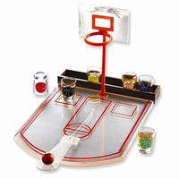 Drinking Basketball Game with 6 Shot Glasses