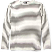 A.P.C. - Striped Cotton-Jersey T-Shirt | MR PORTER