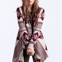 Through The Woods Draped Cardigan