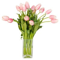 "21"" Tulips in Cube Vase, Faux, Arrangements"