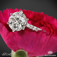"18k White Gold Vatche ""Swan"" French Pave Diamond Engagement Ring"