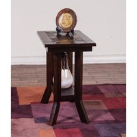 Sunny Designs 3175DC-E Santa Fe End Table In Dark Chocolate