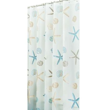 Eco-friendly PEVA Moldproof Waterproof Bathroom Bath Shower Curtain Bathroom Products Bathroom Curtains with 12pcs Hooks